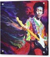 Jimi Hendrix Dissolve Acrylic Print
