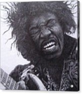 Jimi Hendrix Drawing Acrylic Print