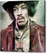 Jimi Hendrix, Music Legend Acrylic Print