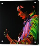 Jimi Hendrix 4 Acrylic Print