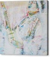 Jimi Hendrix Playing The Guitar.9 - Watercolor Portrait Acrylic Print