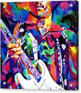 Jimi Hendrix Purple Acrylic Print by David Lloyd Glover