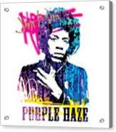 JIMI- purple haze Acrylic Print