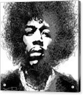 Jimi Hendrix sketch pen portrait Acrylic Print