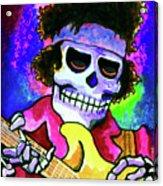 Jimi Hendrix, Soloing Acrylic Print