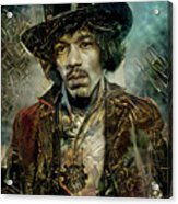 Jimi Hendrix Steampunk style Acrylic Print