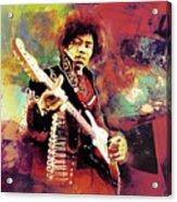Jimi Hendrix the legend  Acrylic Print
