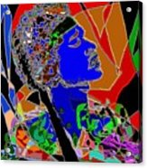 Jimi In Heaven Colorful Acrylic Print by Navo Art