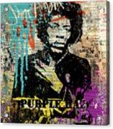 JIMI Hendrix #PURPLE HAZE ON DICTIONARY Acrylic Print