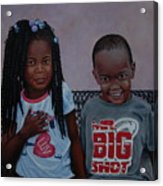 Jimia And Mr Bigshot Acrylic Print