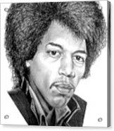 Jimmi Hendrix By Murphy Art. Elliott Acrylic Print