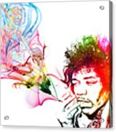 Jimmi Hendrix Acrylic Print by The DigArtisT