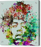 Jimmy Hendrix watercolor Acrylic Print