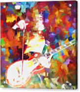 Jimmy Page Jamming Acrylic Print