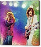 Jimmy Page - Robert Plant Acrylic Print