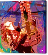 Jimmy Page Stairway To Heaven Acrylic Print by David Lloyd Glover