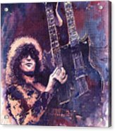 Jimmy Page  Acrylic Print by Yuriy  Shevchuk