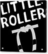 Jiu Jitsu Bjj Little Roller White Light Acrylic Print