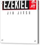Jiu Jitsu Black Belt Ezekiel Dark Gift Martial Arts Bjj Acrylic Print