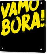 Jiu Jitsu Design Vamo Bora Yellow Light Martial Arts Acrylic Print