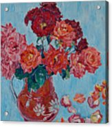 Jjug With Red Roses Acrylic Print