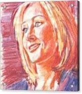 JK Rowling smile Acrylic Print