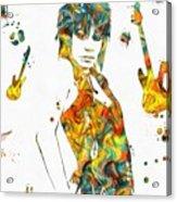 Joan Jett Colorful Paint Splatter Acrylic Print