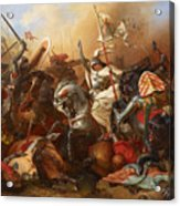 Joan Of Arc In The Battle Acrylic Print