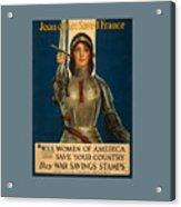 Joan Of Arc World War 1 Poster Acrylic Print