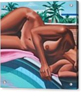 Poolside Dreaming Acrylic Print
