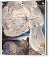 Job Confessing His Presumption To God Who Answers From The Whirlwind Acrylic Print