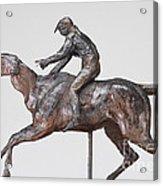 Jockey With Cap Acrylic Print