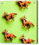 Jockeys And Horses Acrylic Print