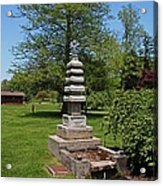 Joe And Marie Schedel Pagoda- Vertical Acrylic Print