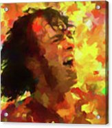 Joe Cocker Colorful Palette Knife Acrylic Print