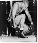 Joe Louis Last Professional Boxing Acrylic Print by Everett