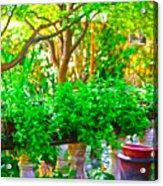 Joe T Garcias Gardens Acrylic Print