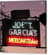 Joe T Garcia's Acrylic Print by Shawn Hughes