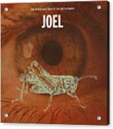 Joel Books Of The Bible Series Old Testament Minimal Poster Art Number 29 Acrylic Print