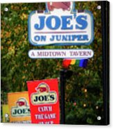Joe's On Juniper Acrylic Print