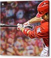 Joey Votto Baseball Acrylic Print