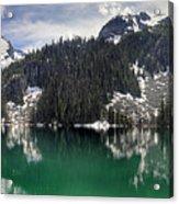 Joffre Lake Middle Panorama B.c Canada Acrylic Print
