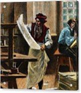 Johann Gutenberg Acrylic Print