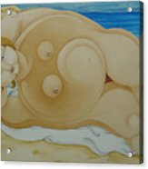 Johanna on the Beach  2007 Acrylic Print