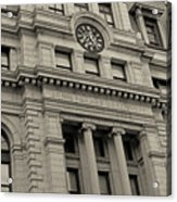 John Adams Courthouse Boston Ma Black And White Acrylic Print