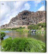 John Day River Landscape In Summer Portrait Acrylic Print