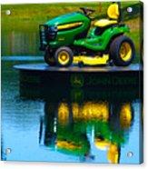 John Deere Mows The Water No 1 Acrylic Print