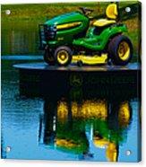 John Deere Mows The Water No 2 Acrylic Print