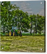 John Deere Tractor At Dusk Acrylic Print