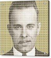 John Dillinger Mug Shot - Gold Acrylic Print